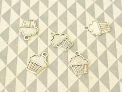 1 Cupcakeanhänger, silberfarben - 1,8 cm
