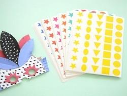 60 planches de gommettes 5 formes - multicolores  - 2