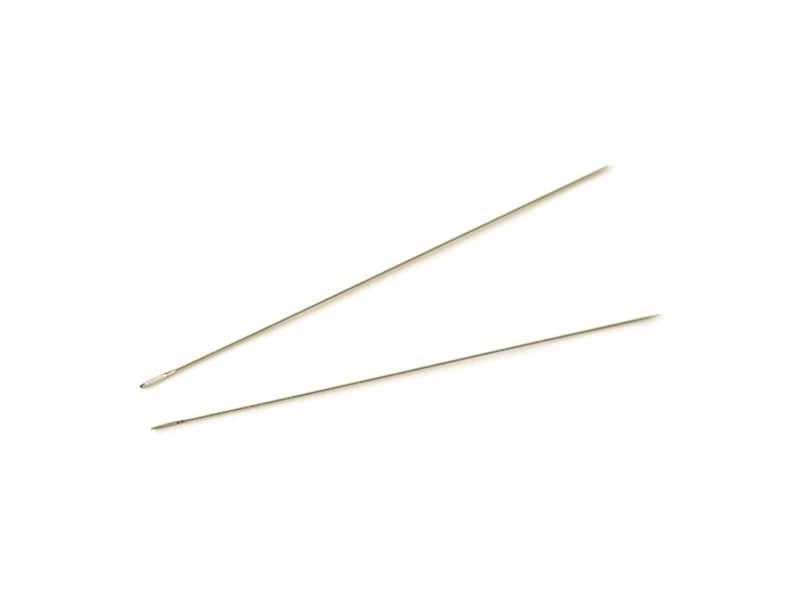 2 beading needles