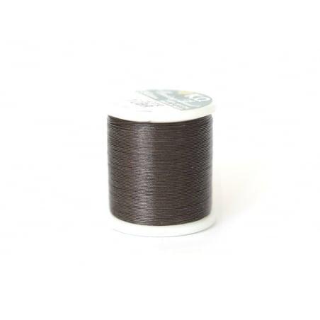 Bobine de fil pour tissage de perles -50m - marron