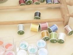 Bobine de fil pour tissage de perles -50m - vert olive KO - 4