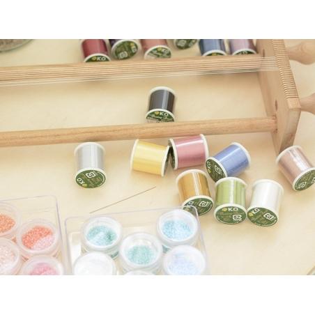 Bobine de fil pour tissage de perles -50m - vert pomme KO - 3