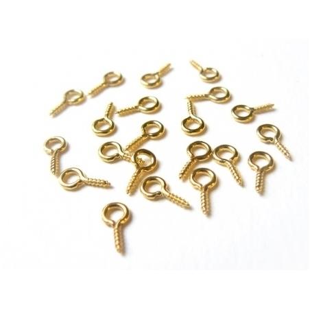 Acheter 20 pitons à vis couleur doré - 1,99€ en ligne sur La Petite Epicerie - 100% Loisirs créatifs