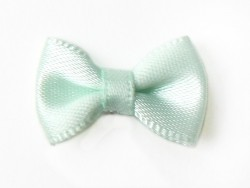 Sea-green bow - 3 cm