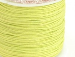 1 m of braided nylon cord, 1 mm - grass green
