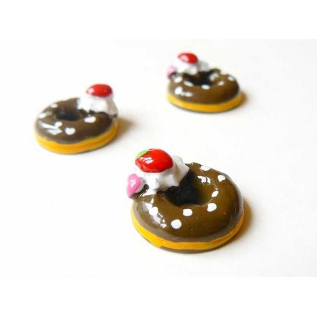 Cabochon donut au chocolat  - 2