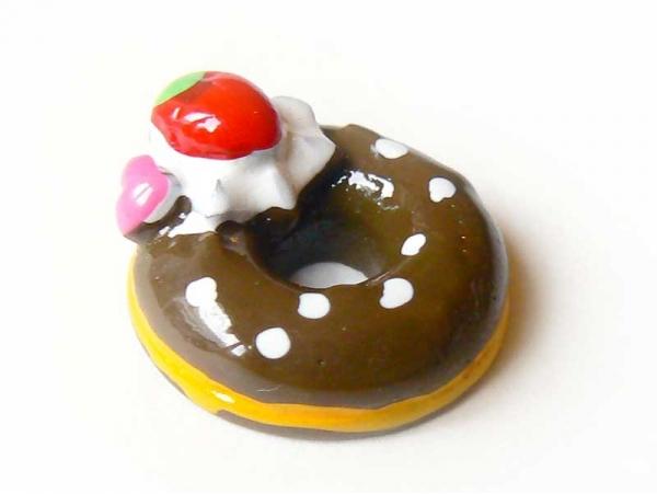 Cabochon donut au chocolat  - 1