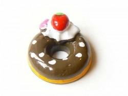 Cabochon donut au chocolat  - 3