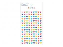 Multi-coloured heart stickers