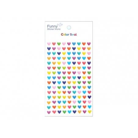 Acheter Stickers Coeurs multicolores - 2,29€ en ligne sur La Petite Epicerie - 100% Loisirs créatifs