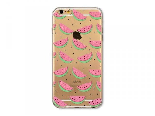 coque iphone 8 silicone motif pasteque