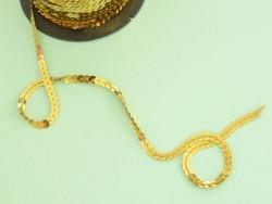 1m de ruban sequin 6 x 6 mm - doré