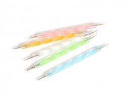 5 Dotting Tools - zur doppelseitigen Verwendung - verschiedene Farben
