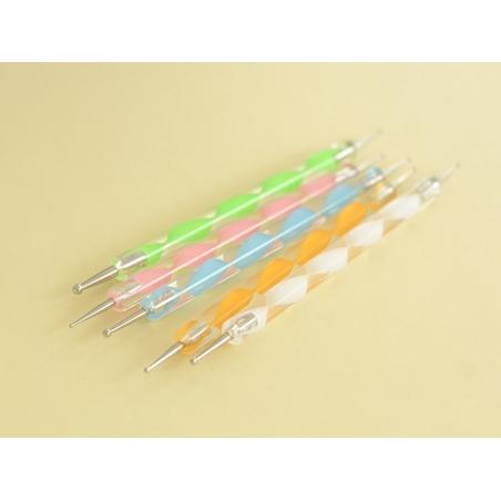 Acheter 5 dotting tools - double pointe - multicolore - 7,99€ en ligne sur La Petite Epicerie - Loisirs créatifs