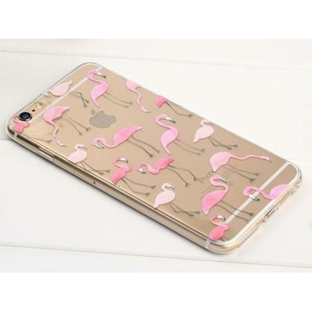 iPhone 6/6S mobile phone case - flamingo (watercolour effect)