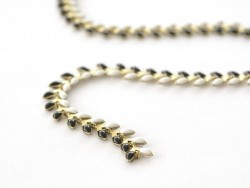 Black-and-white enamel cob chain - 50 cm