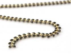 Emaillierte schwarze Ährenkette - 50 cm