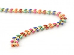 Colourful enamel cob chain - 50 cm
