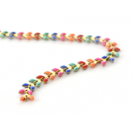 Acheter Chaîne épi émaillée multicolore - 50 cm - 6,40€ en ligne sur La Petite Epicerie - 100% Loisirs créatifs