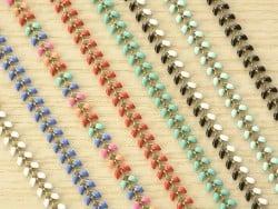 Chaîne épi émaillée multicolore - 50 cm
