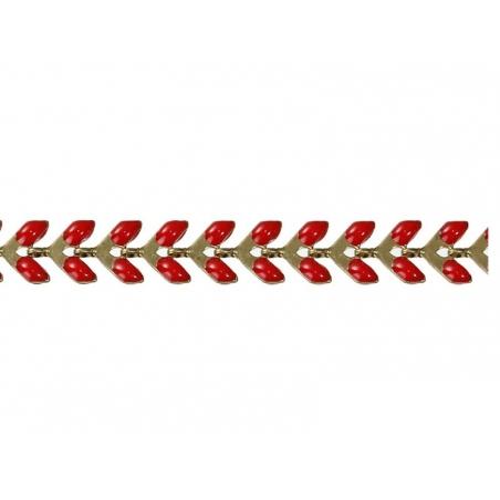 Chaîne épi émaillée bordeaux - 50 cm