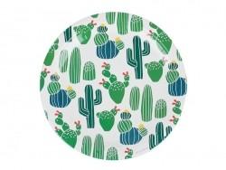 8 paper plates - cacti