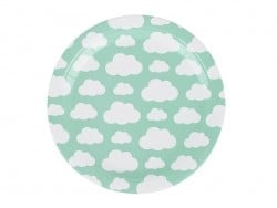 8 assiettes en papier - nuages My little day - 1
