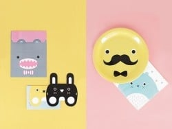 8 assiettes en papier - little monsters