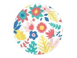 8 assiettes en papier - tropical flowers