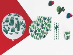 8 gobelets en papier - cactus