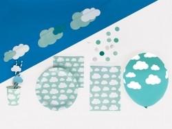 8 Pappbecher - Wolken