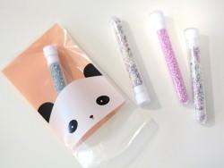 1 sachet en plastique - panda