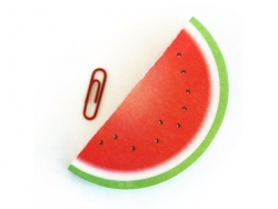 Fruit-shaped notepad - watermelon
