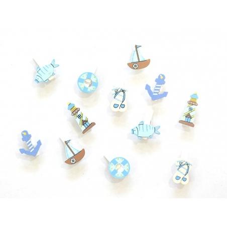 Acheter 12 pinces à linge - marin - 4,90€ en ligne sur La Petite Epicerie - Loisirs créatifs