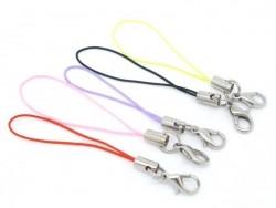 5 Schlüsselanhänger mit Schlaufe - zufällige Farbauswahl