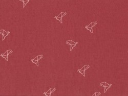 """Bye Bye Birdie"" fabric - Terracotta"