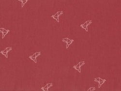 """Tissu """"`Bye Bye Birdie"""" - Terracotta"""