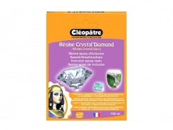 """Crystal'Diamond"" inclusion epoxy resin - transparent Cléopâtre - 1"
