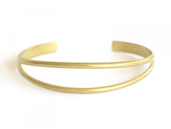 Bracelet jonc en laiton - pour nouer un ruban