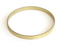 Bracelet jonc rond en laiton - avec petits rebords