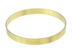 Round brass bangle - simple - 7.5 mm thick