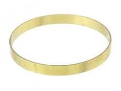Runder Messingarmreif - schlicht - 7,5 mm dick