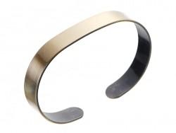 Bracelet manchette - couleur bronze - épaisseur 1 cm