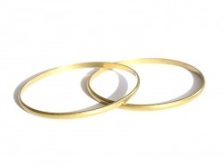 Very delicate brass bangle - child size - gold-coloured