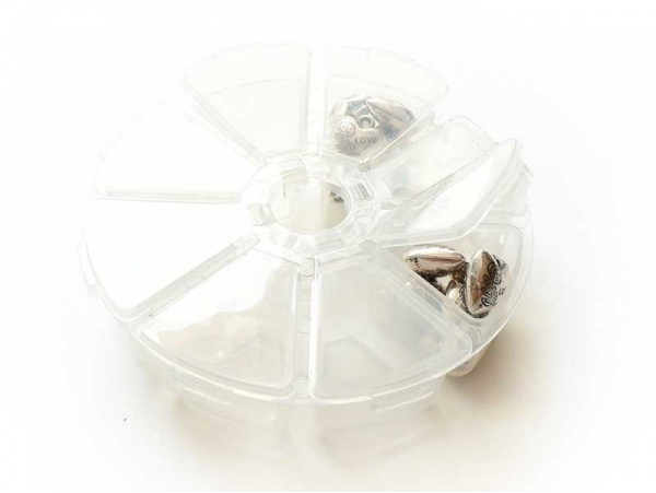 Round storage box with 8 compartments