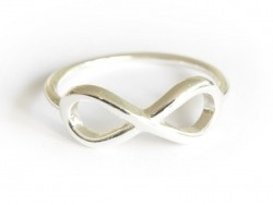 Ring with the infinity symbol - silver-coloured