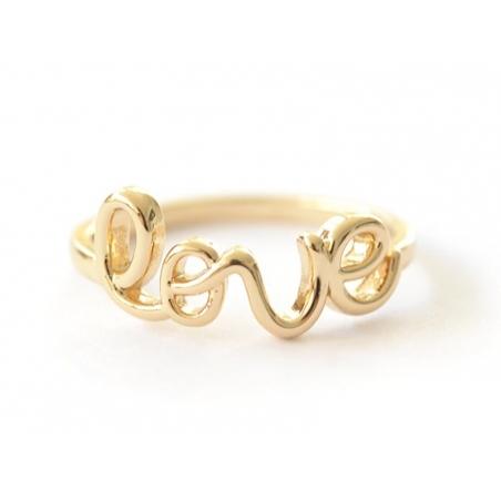 Acheter Bague love - écriture dorée - 4,99€ en ligne sur La Petite Epicerie - 100% Loisirs créatifs