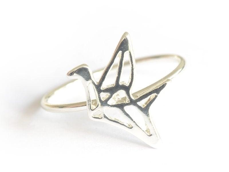 Acheter bague grue origami - couleur argent - 4,99€ en ligne sur La Petite Epicerie - Loisirs créatifs