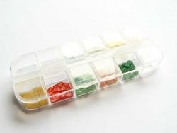 Acheter Boite de rangement à 12 compartiments - 3,50€ en ligne sur La Petite Epicerie - Loisirs créatifs