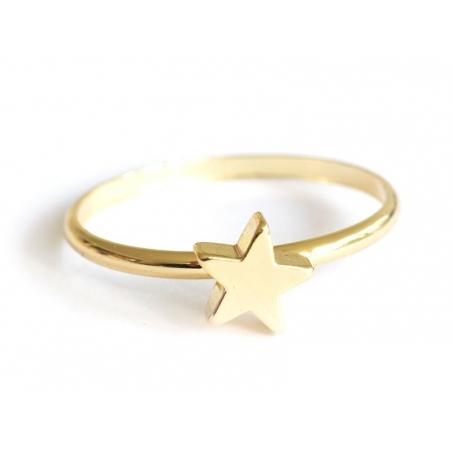 Acheter Bague fine petite étoile - dorée - 4,99€ en ligne sur La Petite Epicerie - 100% Loisirs créatifs